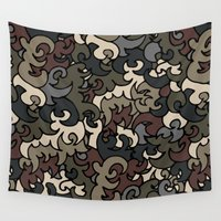 military Wall Tapestries featuring Military pattern by Julia Badeeva
