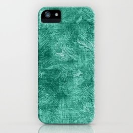 Lucite Green Oil Painting Color Accent iPhone Case