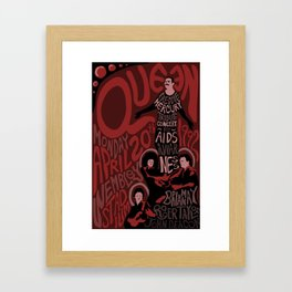 Queen Tribute Concert Framed Art Print