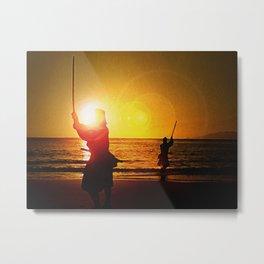 Duel at Ganryu Island - Miyamoto Musashi Metal Print