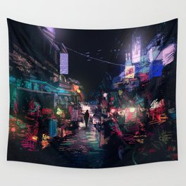 Blues of the Night Wall Tapestry