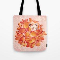 Flowerball Cat Bride Tote Bag