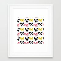 bows Framed Art Prints featuring Bows by erin m higgins