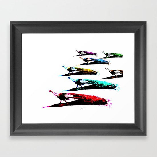 March of the Peacocks Framed Art Print