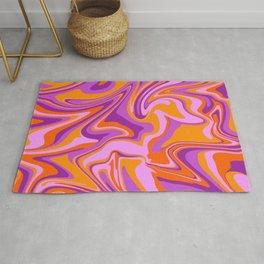 Marble Design orange pink violet Rug
