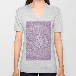 Secret garden mandala in pale lavender Unisex V-Neck