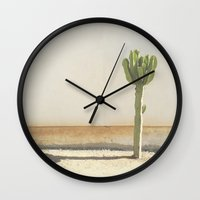 cactus Wall Clocks featuring Cactus by Amber Barkley