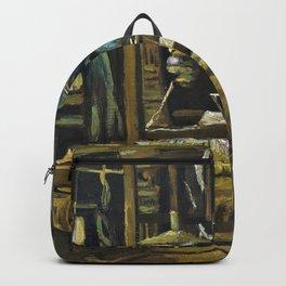 Vincent van Gogh - A Weaver's Cottage - Digital Remastered Edition Backpack