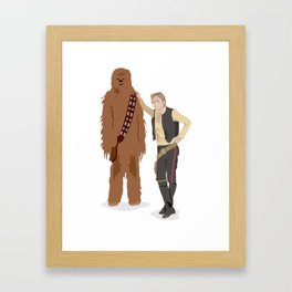 Han Solo and Chewbacca Framed Art Print