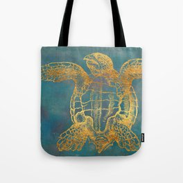 Deep Sea Life Turtle Tote Bag