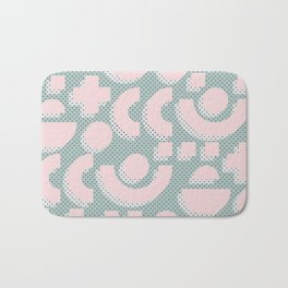 Memphis Pattern - Gemetrical  Retro Art in Pink and Mint - Mix & Match With Simplicity Of Life Bath Mat