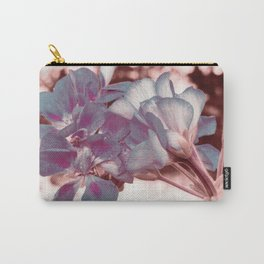 Muted Blue In Bloom Flowers Pop of Color Carry-All Pouch