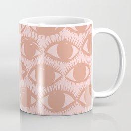 Inky Eyes // Dusty Pink Coffee Mug