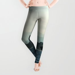 Scenic Whale Photography Print Leggings