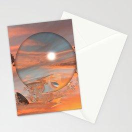 Lunar Sunset Stationery Cards
