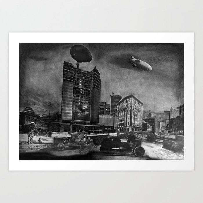 AIRSHIP STATION Art Print