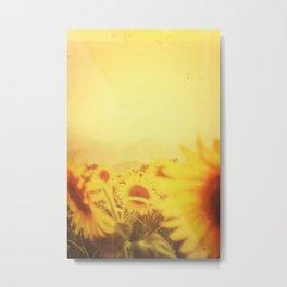 Delving in Yellow Metal Print