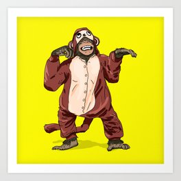 Monkey Onesie Art Print