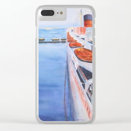 Queen Mary from the Bridge Clear iPhone Case