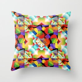 Prismatic Rainbow Throw Pillow