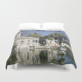 Royal Gardens Reflection - Alcazar of Seville Duvet Cover