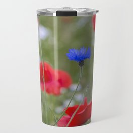 Spring Meadow Poppy Flowers full Bloom Travel Mug