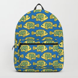 Tropical Fish in Pastel - Doodle Pattern Backpack