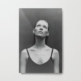 Old reworked Kate Moss photo. Metal Print