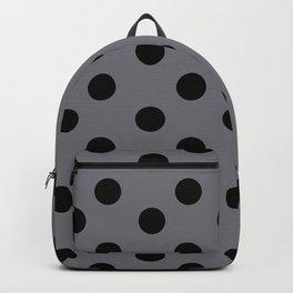 Grey & Black Polka Dots Backpack