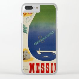 Messina port of Sicily Clear iPhone Case