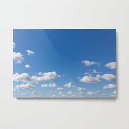 blue sky and clouds - blue sky with clouds Metal Print