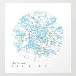 Bucharest Art Print