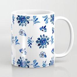 Blue Spanish Florals Coffee Mug
