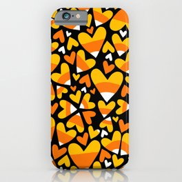 Halloween Candy Corn Hearts iPhone Case