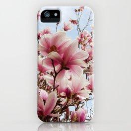 magnolia and blue sky iPhone Case