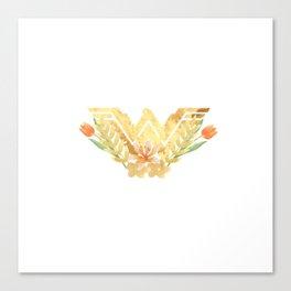 wonder.woman floral Canvas Print