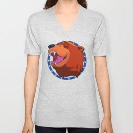 Bear for Hire Unisex V-Neck