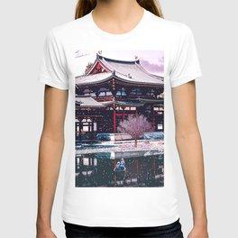 Japanese Boat-Ukiyo-e Inspired Scene T-shirt