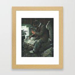 THE STONECUTTER Framed Art Print