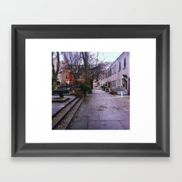 Rain On the Playground, Philadelphia Framed Art Print