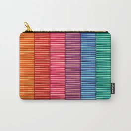 Abstract Colorful Decorative 3D Striped Pattern Carry-All Pouch