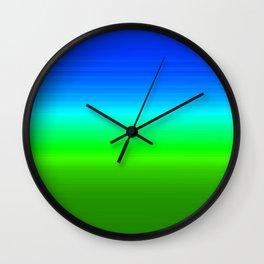 Blue Sky Green Grass Deconstructed (blue to green ombre gradient) Wall Clock