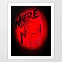 Where To Now? Art Print