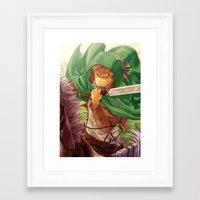 snk Framed Art Prints featuring SnK-Jean by Gin-Uzumaki