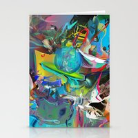 archan nair Stationery Cards featuring Microcrystalline Tendrils by Archan Nair