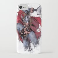 thor iPhone & iPod Cases featuring Thor by Isaak_Rodriguez