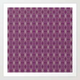 Hopscotch hex-Plum Art Print
