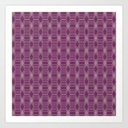 Hopscotch hex-Plum Art Print