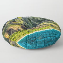 Na' Pali Spires, Kauai, Hawaii  Floor Pillow