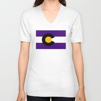 colorado V-neck T-shirts featuring Colorado by vinnyandthejets